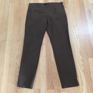 Theory Belisa dark taupe cropped pants